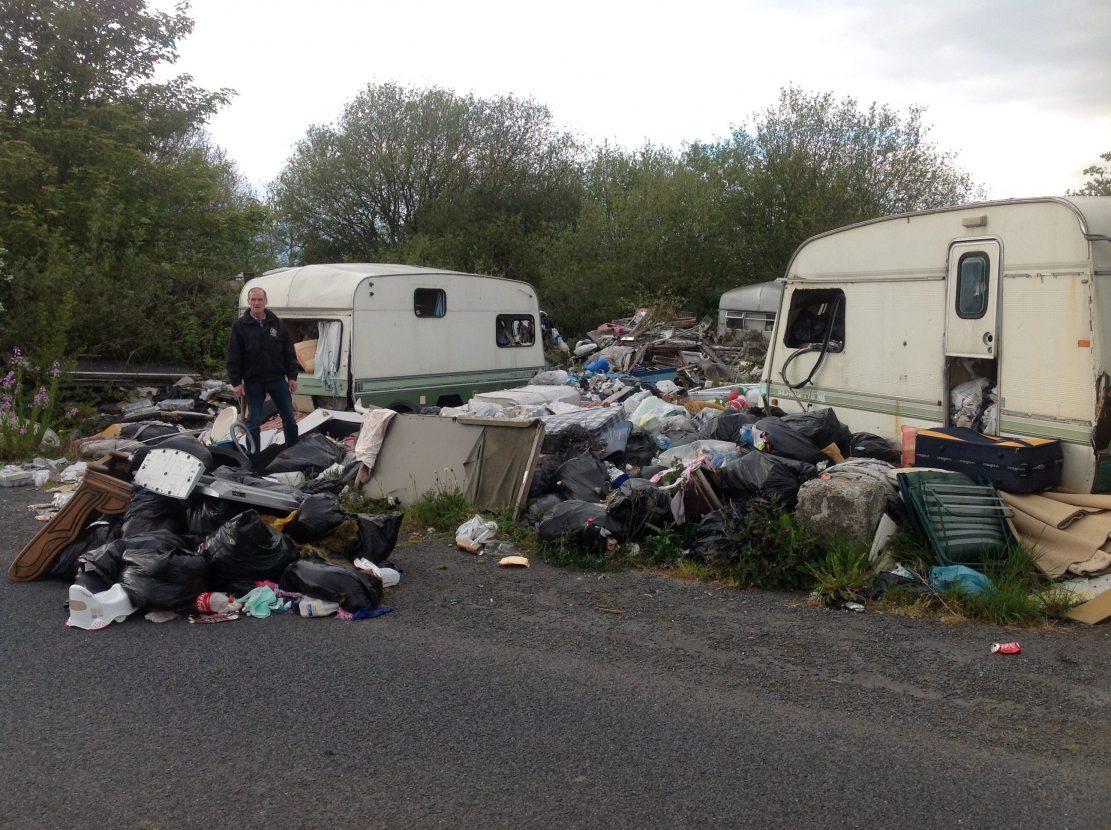 Caravan park dump in Crossmaglen, south Armagh