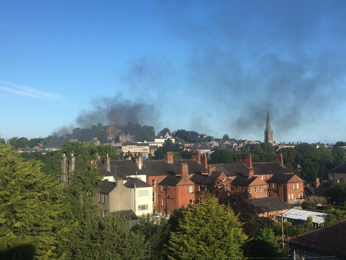 Lorry fire on the Mall in Armagh