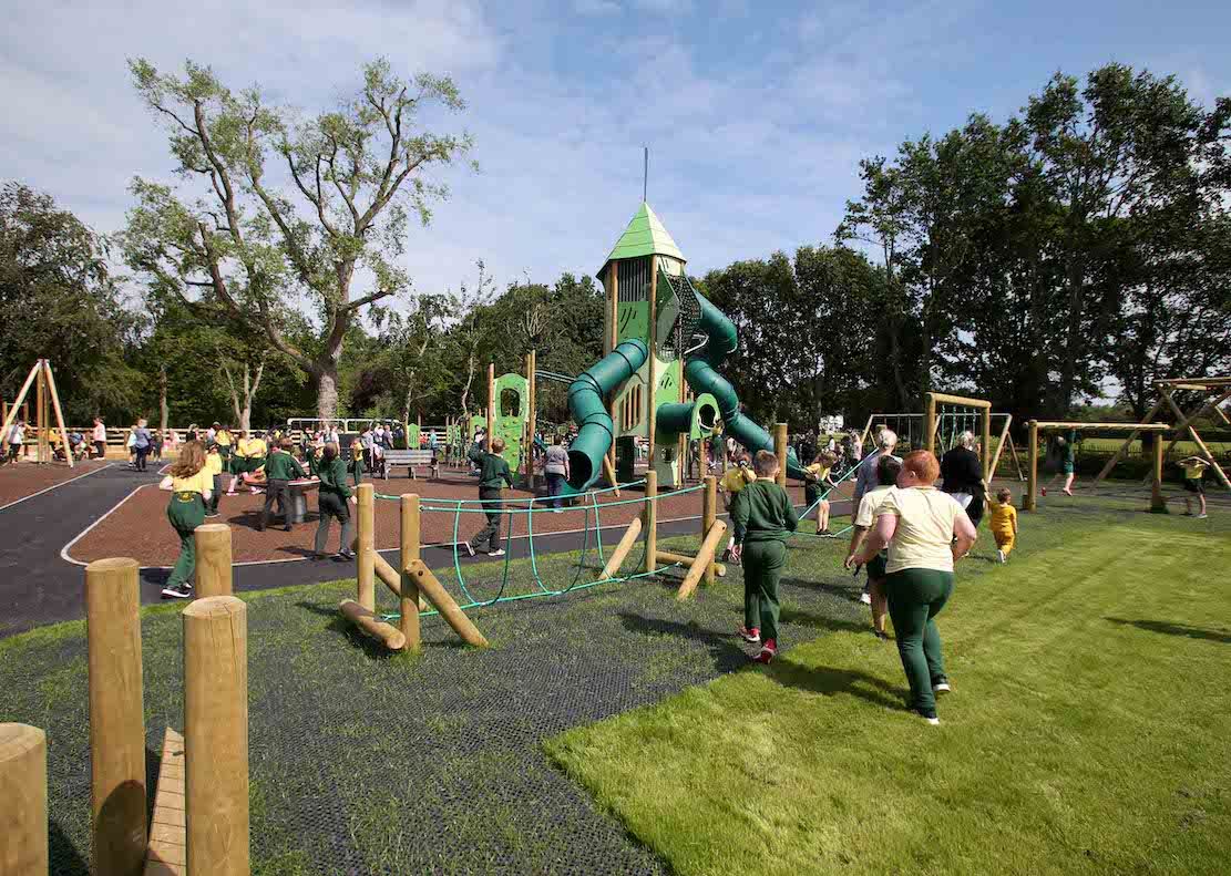 Official opening of Tannaghmore Gardens play park in Craigavon