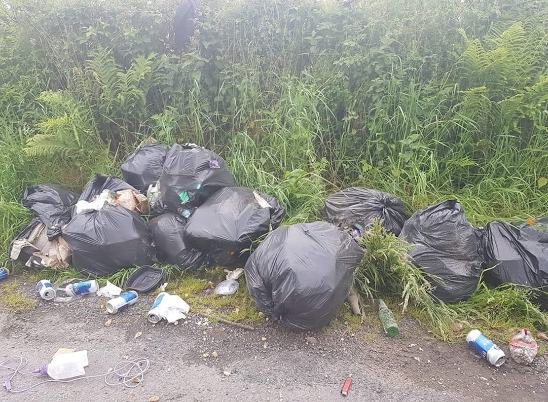 Dumping Lough Ross Road, Crossmaglen