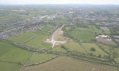 The new link road for the Mullinure Lane 'Deanery Demesne' housing development in Armagh city