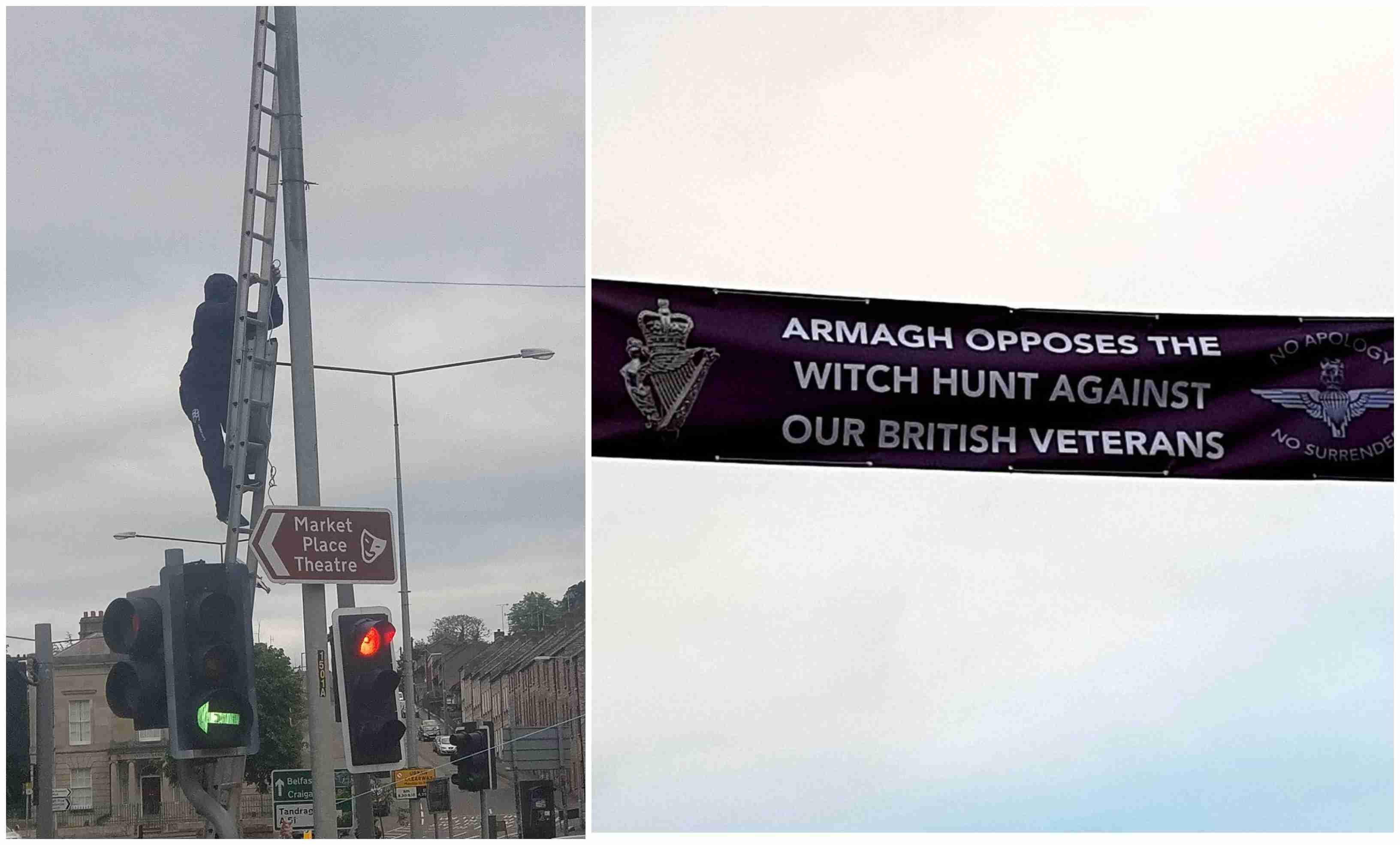 Soldier F support banner Armagh