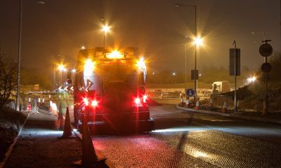 Night roadworks