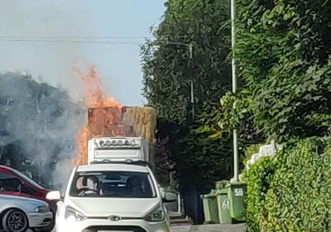 Lorry fire