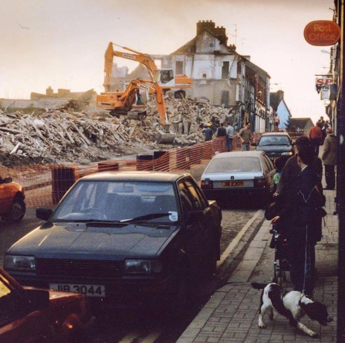 Diggers roll in to demolish Ogle Street in November 1997