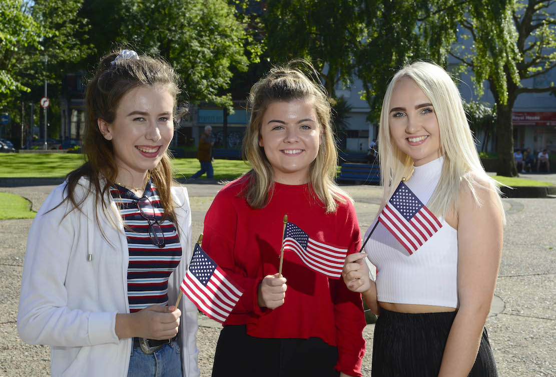 Study USA Armagh: From left: Melissa Tully (Armagh), Catherine Dummigan (Lurgan) and Cara Matchett (Portadown) are among 54 students who have been selected to take part in the British Council's prestigious Study USA programme, where they will spend a year studying business or STEM-related subjects in the USA. The programme is managed by the British Council on behalf of Department of Economy. For more information on the programme, visit http://nireland.britishcouncil.org, follow on Twitter: BCouncil_NI and on Facebook: www.facebook.com/britishcouncilnorthernireland.