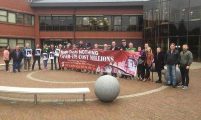 Armed Forces Protest Craigavon civic Centre