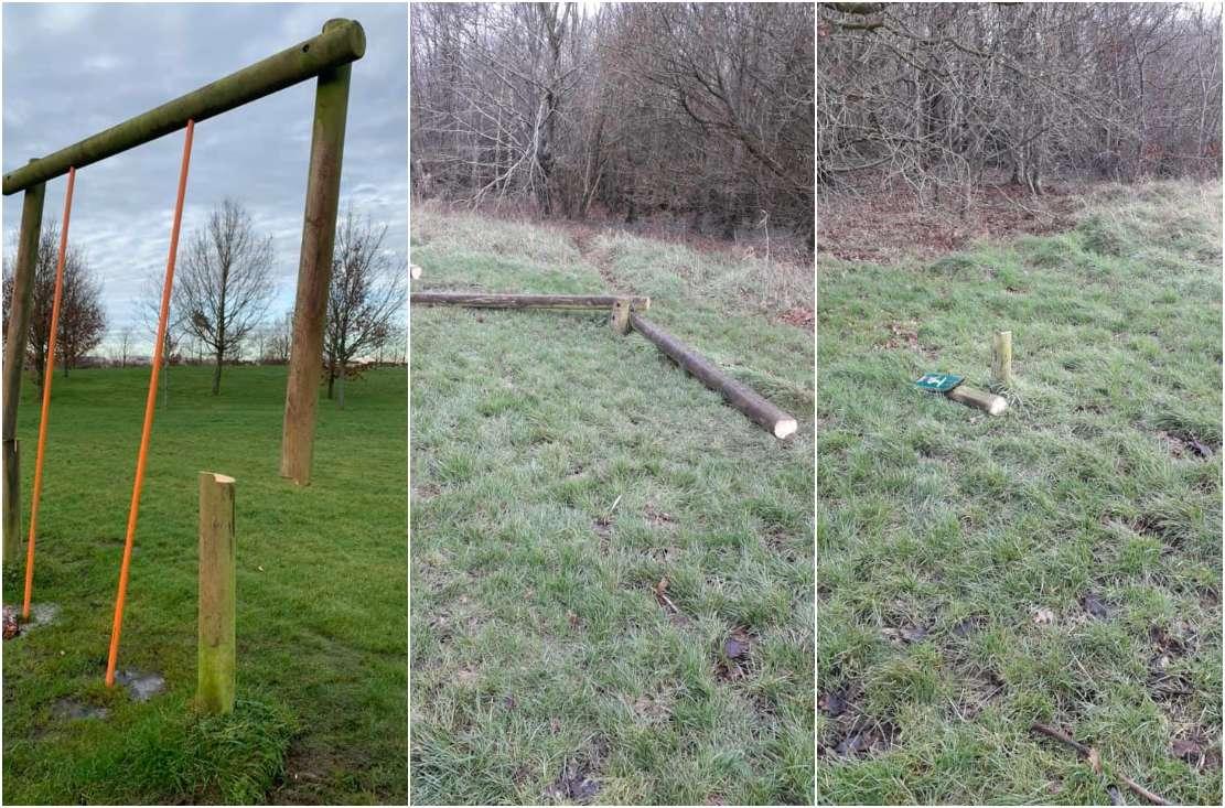 Craigavon park vandalism