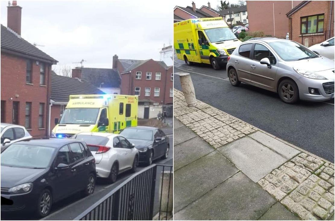 Ambulance stuck in Newry