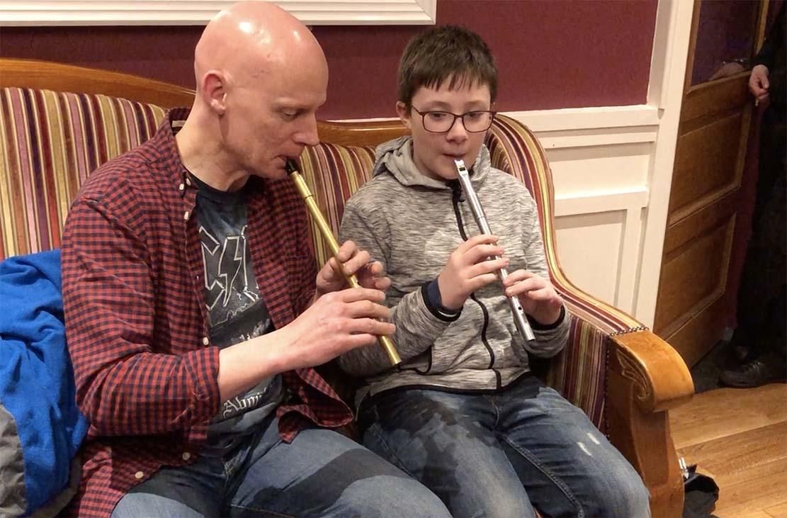 Des Cafferkey with Liam Hughes