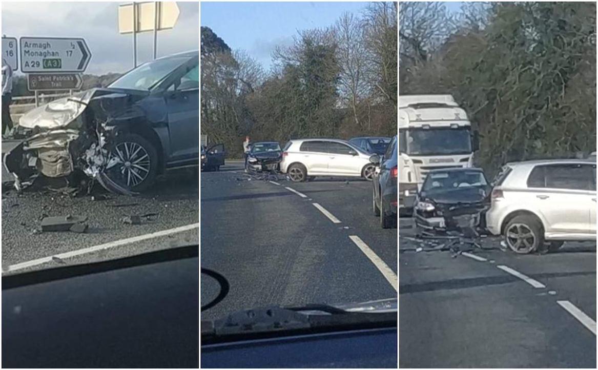 Crash Keady Road in Armagh