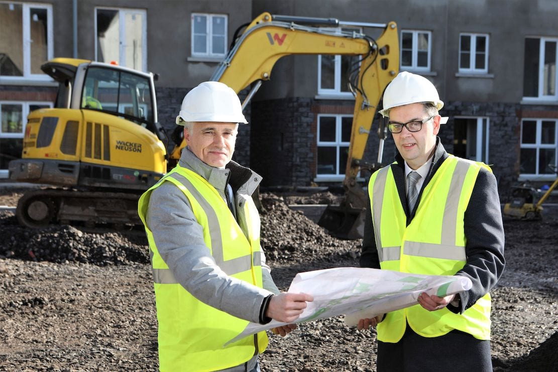 Pictured (L-R) are Ark Housing's Chief Executive, Jim McShane and Dominic O'Neill, Corporate Acquisition Manager at Danske Bank