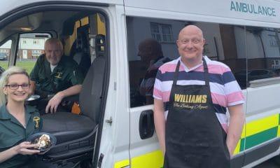 Owen Matchett and ambulance crew
