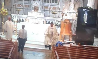 Dancing priests
