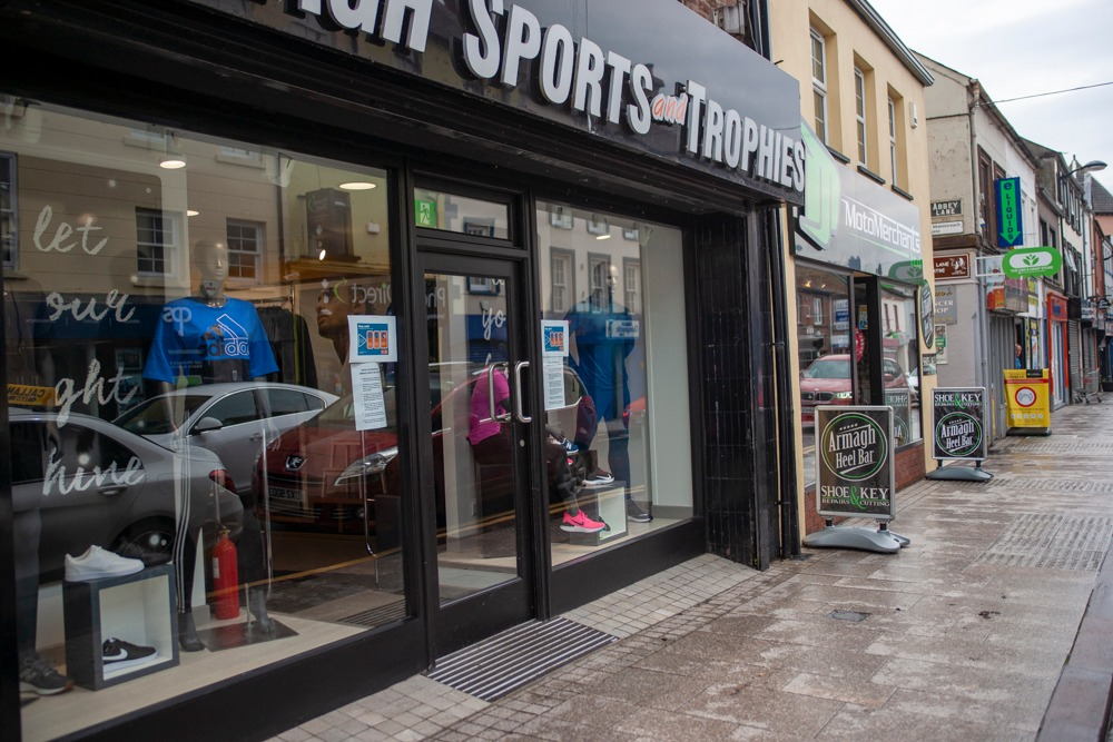 Armagh shops reopening Sports