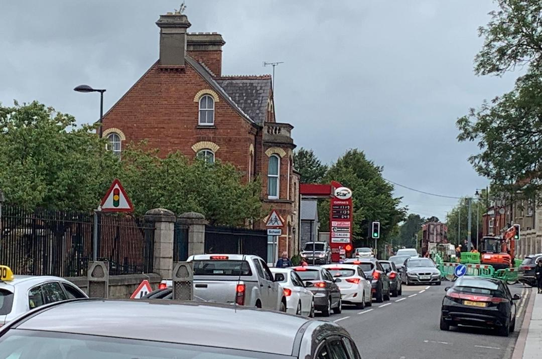 Armagh traffic roadworks