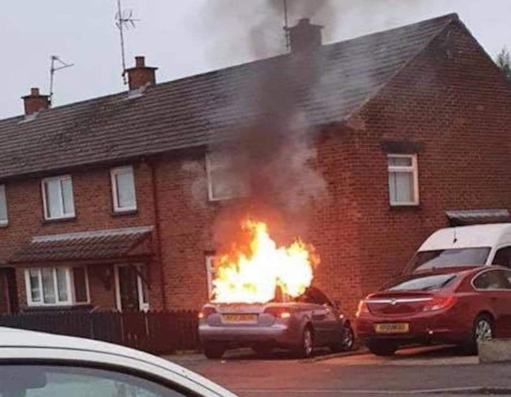 Car Fire Portadown