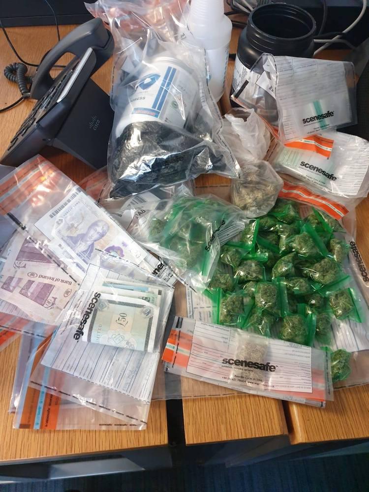 Cash drugs seized Craigavon