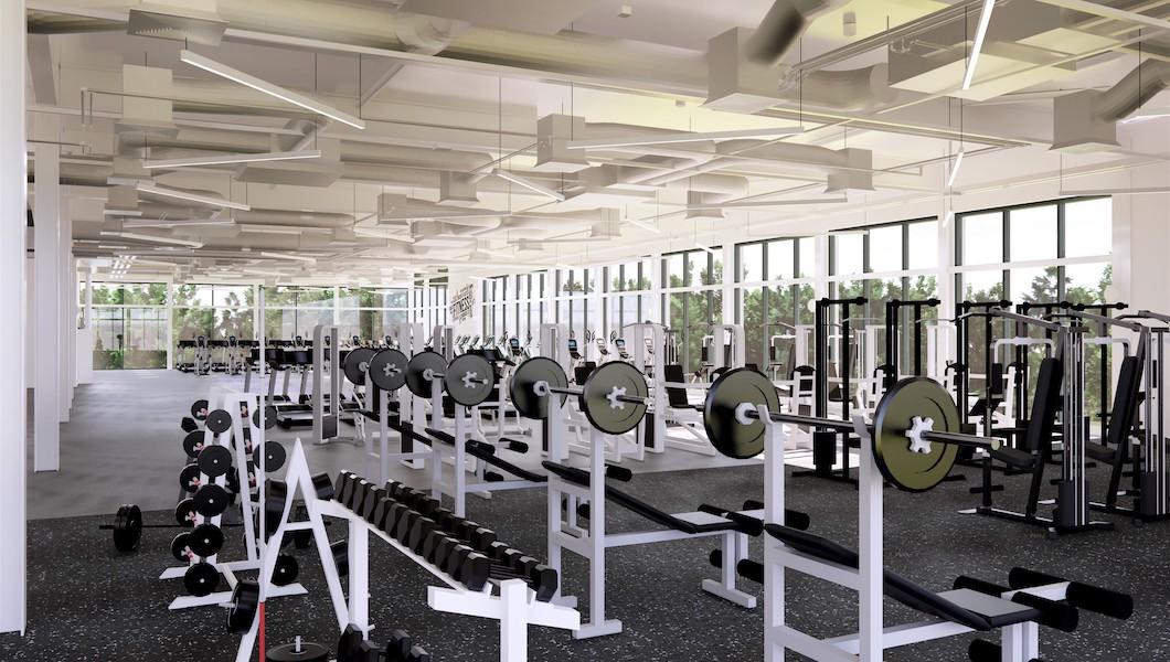 South Lake Leisure Centre gym