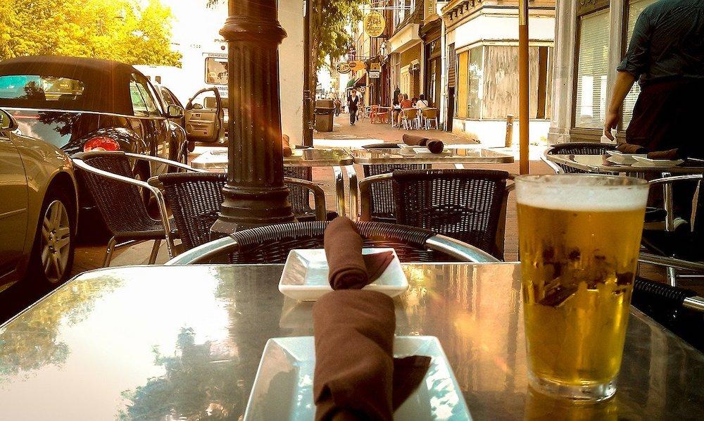 Bar pavement alcohol beer