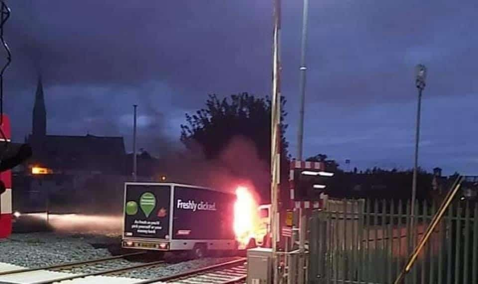 Tesco van burnt Lurgan