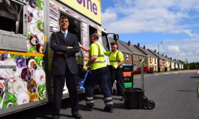 Bryson Recycling Director, Eric Randall, pictured with team on a collection route