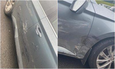 Police car rammed Jonesborough