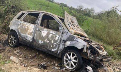 Burnt out car Crossmaglen