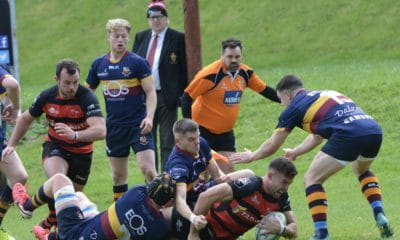 Michael Hooks scored two tries for the home side