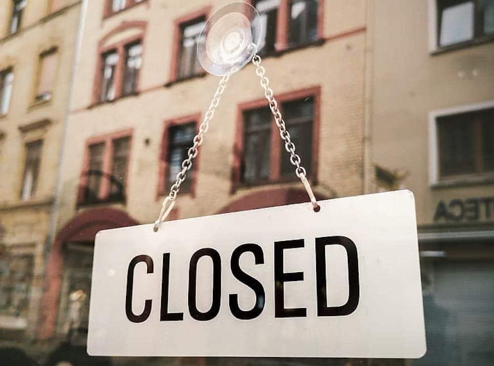 Shop closed Covid