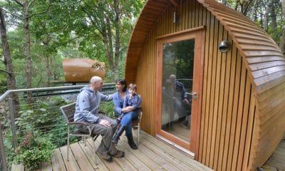 Glamping lodge pods Gosford