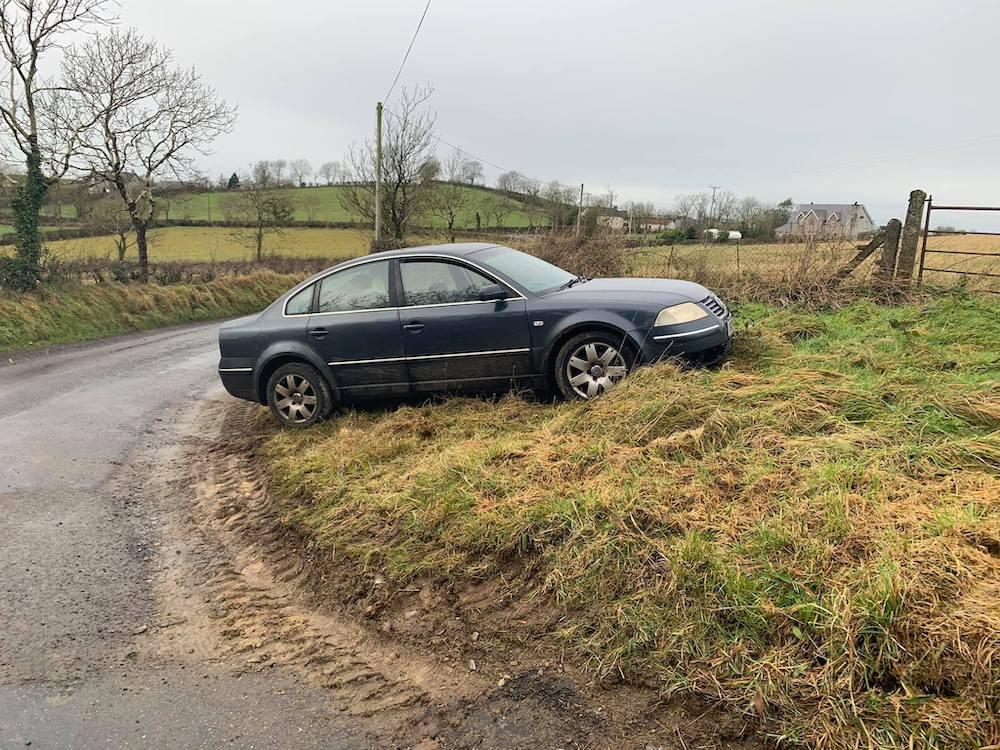 Abandoned car outside Keady