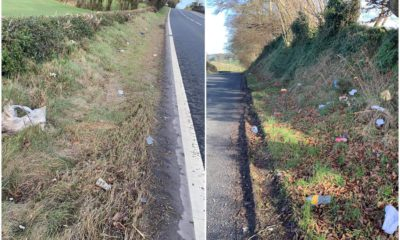 Litter on Armagh roads