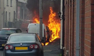 Car fire Armagh