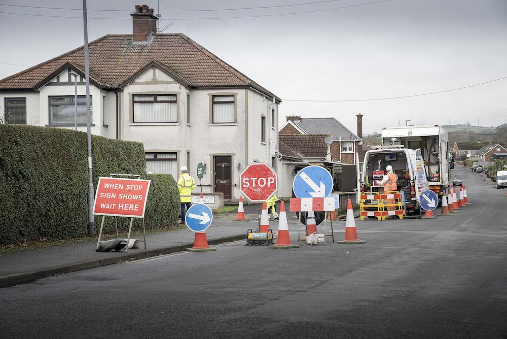 NI Water works Garvaghy Road Portadown