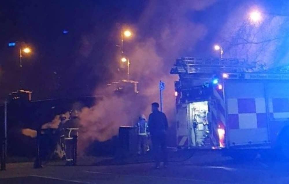 Portadown bin fire