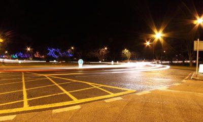 traffic driving roundabout