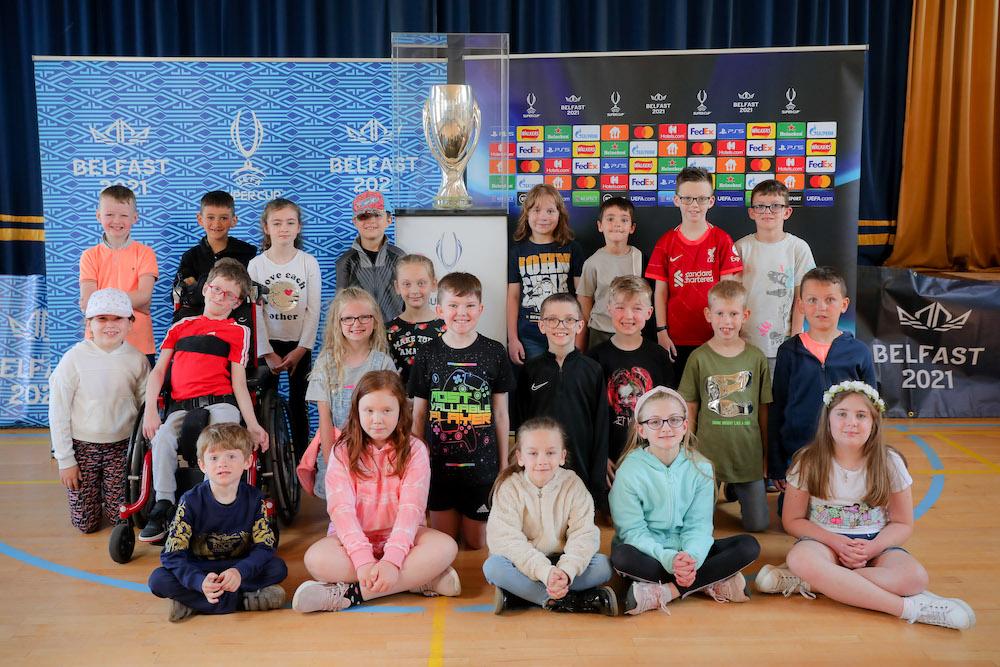 Uefa Super Cup visits Carrick Primary School