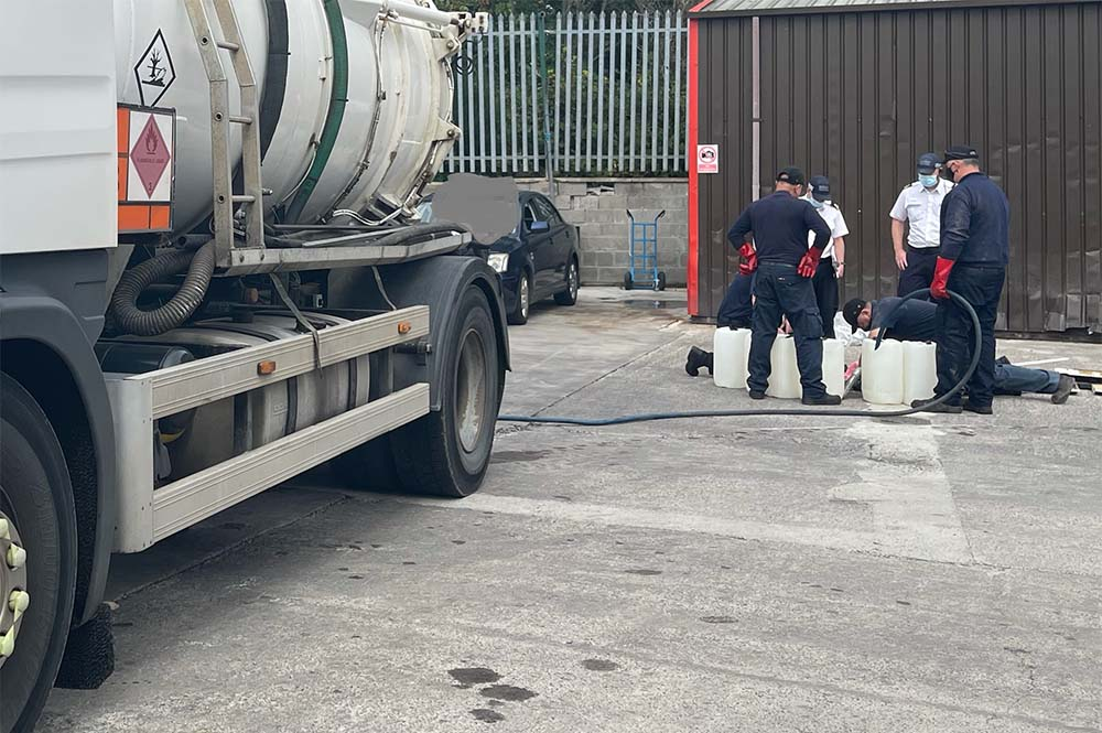 Unlicensed filling station in Newry
