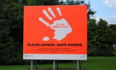 Covid safe hands Craigavon Hospital