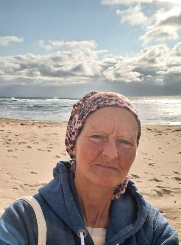 Katrina Finnegan on a well-deserved break in Newcastle, Co Down