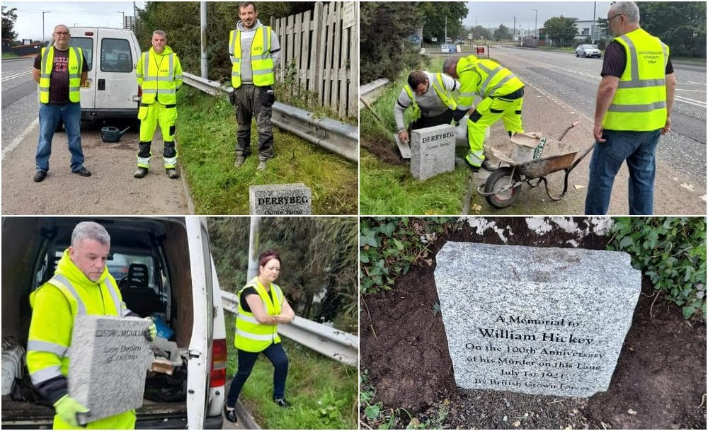 New boundary stone for Derrybeg and Lisdrumgullion